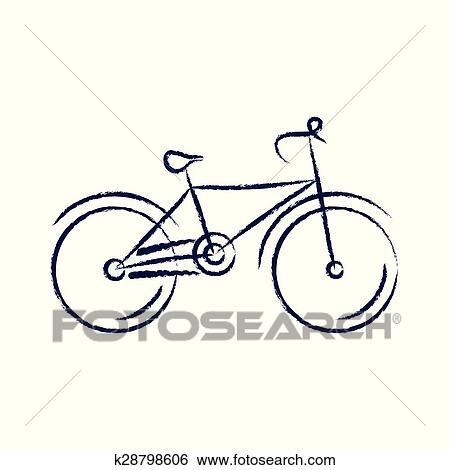 Stilizzato Bicicletta Vettore Illustrazione Clip Art