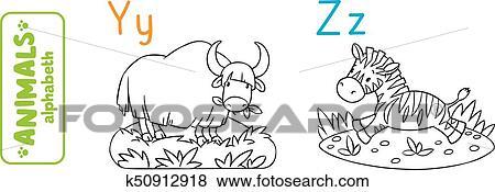 Tiere Alphabet Oder Abc Ausmalbilder Clip Art K50912918
