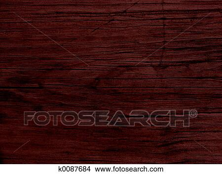Close Up Of A Dark Stained Redwood Plank Shot With Canon 20d