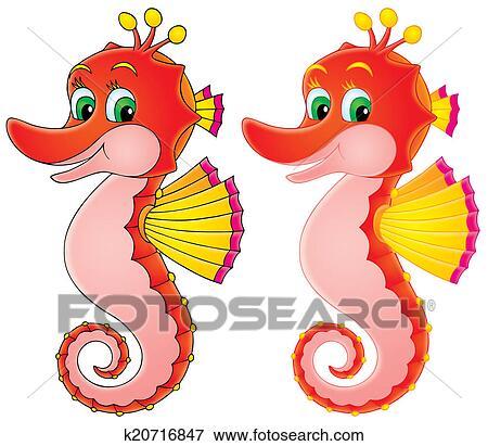 Banque D Illustrations Hippocampe K20716847 Recherche De