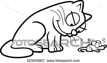 Clip Art Kot I Mysz K23433927 Szukaj Kliparty Ilustracje