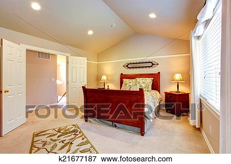 Beeld - licht, slaapkamer, met, vaulted plafond k21677187 - Zoek ...