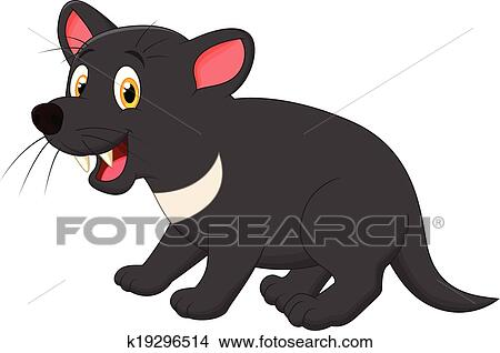 clipart of tasmanian devil cartoon k19296514 search clip art rh fotosearch com Tasmanian Devil Clip Art Black and White cute tasmanian devil clipart