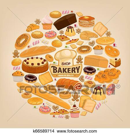 パン屋 店 Cakesand 甘い ペストリー デザート クリップアート 切り張り イラスト 絵画 集 K Fotosearch