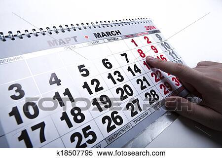 Calendario Con Numero Giorni.Calendario Muro Calendario Con Il Numero Di Giorni Archivio Fotografico