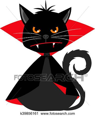 Cat vampire in Dracula carnival costume vector mascot Clipart