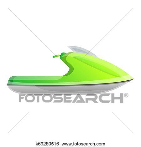 Green Jet Ski Icon Cartoon Style Stock Illustration K69280516 Fotosearch