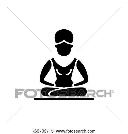 lotus pose meditation black icon vector sign on isolated background lotus pose meditation concept symbol illustration clipart k63703715 fotosearch fotosearch