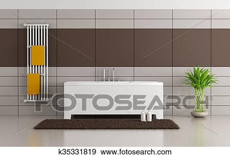 Bagno Marrone Moderno : Archivio illustrazioni marrone e beige moderno bagno