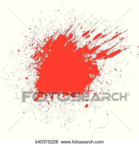 Halloween Background Of A Blood Splatter