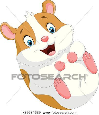 clip art of cute hamster cartoon k39684639 search clipart