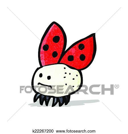 Dessin Coccinelle Rigolote clipart - dessin animé, rigolote, coccinelle k22267200 - recherchez