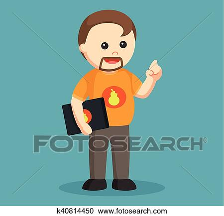 Photo About Clipart Picture Of A Nerd Geek Cartoon - Computer Geek Icon -  Free Transparent PNG Clipart Images Download