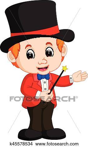 Clipart gar on magicien dessin anim k45578534 - Magicien dessin ...