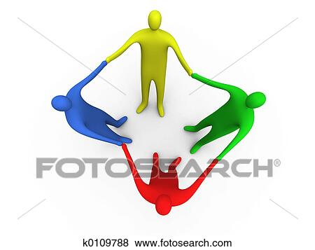 Stock Illustration Of Holding Hands 2 K0109788 Search Eps Clip