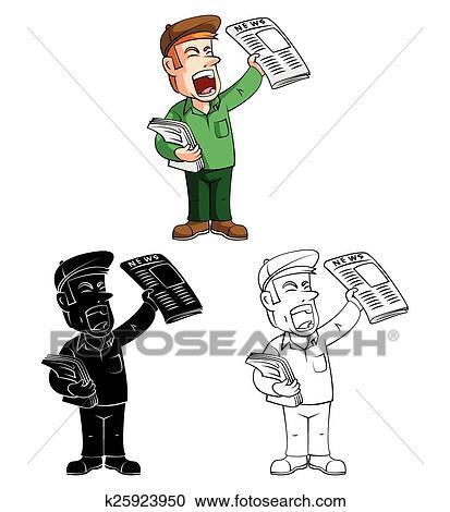 Clipart - libro colorear, chico papel, carácter k25923950 - Buscar ...