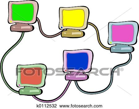 clip art of networking k0112532 search clipart illustration rh fotosearch com network clipart for powerpoint network clipart transparent background