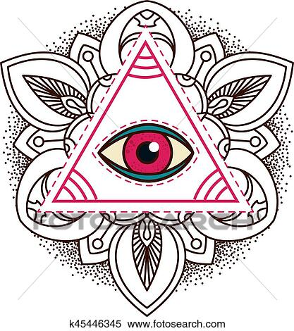 Clipart Tout Voir Oeil Pyramide Symbole K45446345 Recherchez