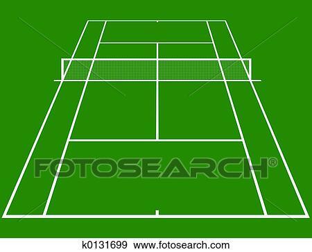テニスコート イラスト K0131699 Fotosearch