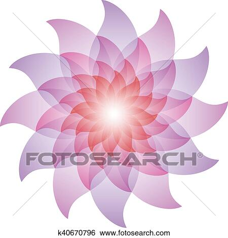 Stock Illustration Of Beautiful Purple Lotus Flower Icon K40670796