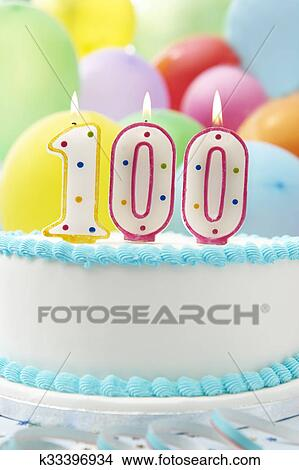 Cake Celebrating 100th Birthday