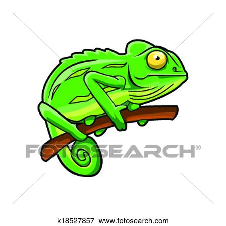 clip art of chameleon k18527857 search clipart illustration rh fotosearch com chameleon clip art images chameleon clipart transparent