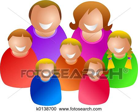 Large Family Clipart K0138700 Fotosearch
