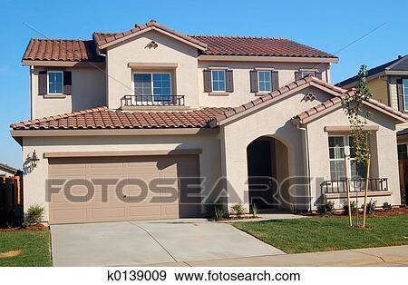 stock photograph of suburban house k0139009 search stock