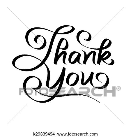 Clipart Of Thank You Hand Lettering