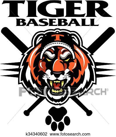 Tiger Holding Baseball Ball Mascot Royalty Free Cliparts, Vectors, And  Stock Illustration. Image 106170507.