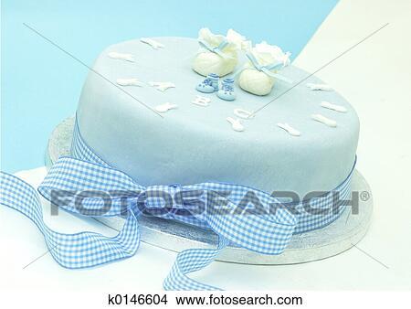 5b26c0e6fe Fiú, keresztelő, torta, noha, kevés, booties.