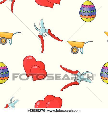 Clip Art Gartenpflege Muster Karikatur Stil K43989276 Suche