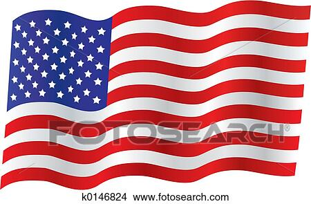 Traditional Us Flag Drawings K0146824
