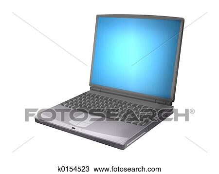 Computador portatil Dibujo | k0154523 | Fotosearch