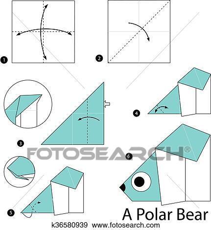 Bear And Polar Bear | Book origami, Origami easy, Origami tutorial ... | 470x431