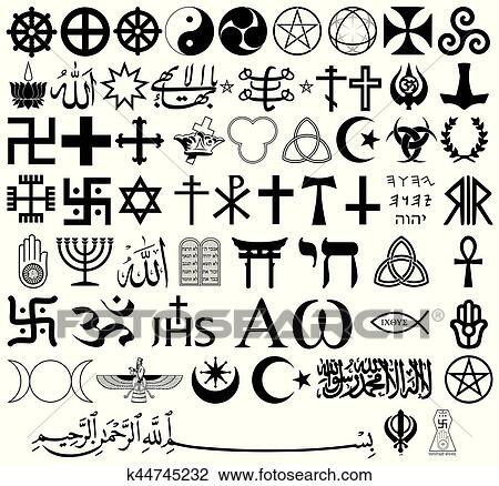 Clipart Of Religious Symbols From The Top Organised Faiths Of The