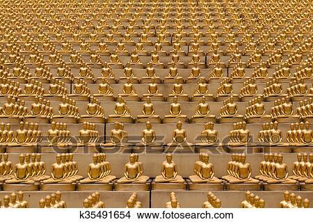 Stock Photo Of Wat Phra Dhammakaya Buddhist Temple In Bangkok
