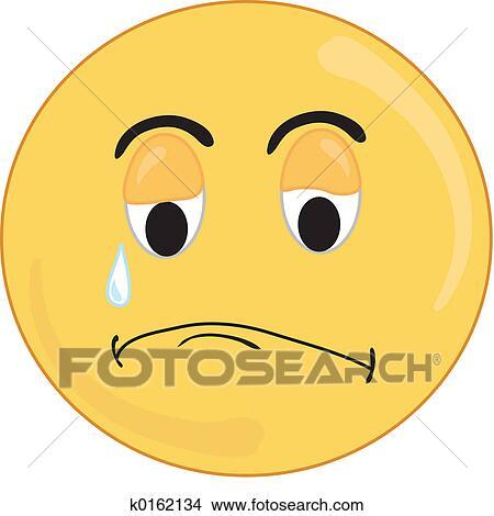 悲しい 顔 イラスト K0162134 Fotosearch