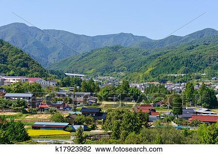 stock photo of achi village in nagano japan k17923982 search