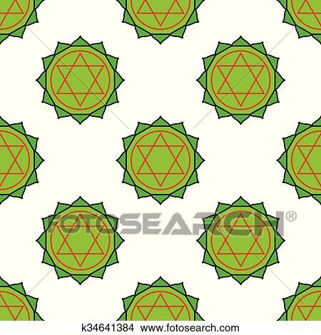 Clipart - anahata, -, corazón, chakra., el, símbolo, de, el, cuarto ...