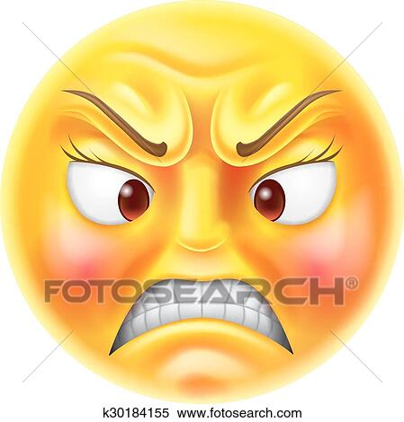 clipart of angry emoticon emoji k30184155 search clip art