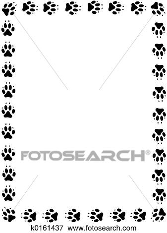 Picture Of Dog Pawprint Frame K0161437 Search Stock Photography