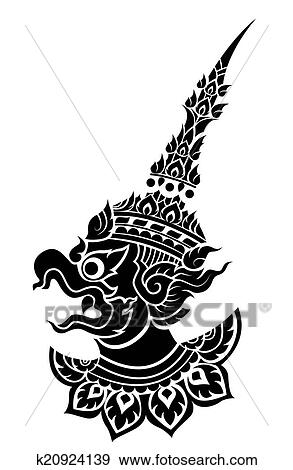 Garuda, King's protective bird vector Clip Art