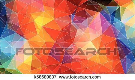 Multicolor Color Geometric Triangle Wallpaper Clip Art