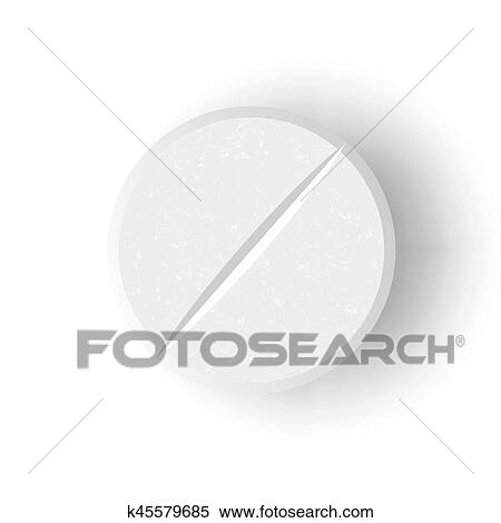 white 3d medical pill or drug vector illustration realistic tablet with soft shadow in front isolated on white background clipart k45579685 fotosearch https www fotosearch com csp016 k45579685