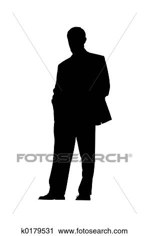 clipart of businessman silhouette k0179531 search clip art