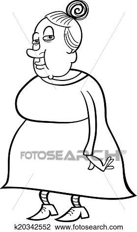 Clipart älter Großmutter Ausmalbilder K20342552 Suche Clip Art