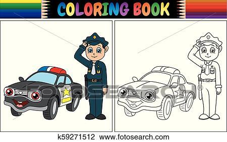 ausmalbilder polizei lastwagen - zeichnen und färben