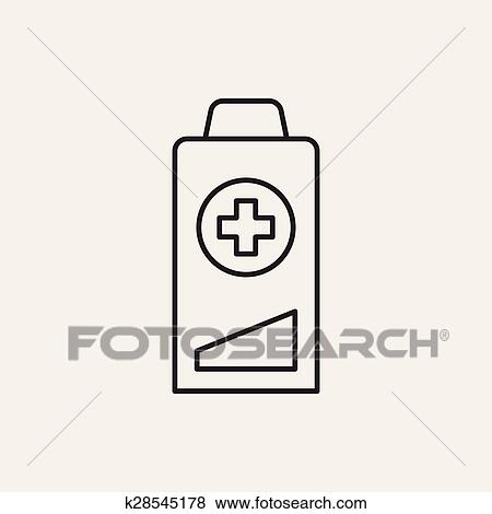 Clip Art - batterie, linie, symbol k28545178 - Suche Clipart, Poster ...