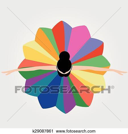 clipart ilustração de dançar bailarina k29087861 busca de